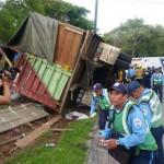 Conductor perece en vuelco de camión en Estelí
