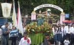 En Jinotega, la procesión salió desde la Iglesia Nuestra Señora de los Ángeles para hacer su tradicional recorrido hasta la catedral que lleva el nombre del santo. LA PRENSA/S. Ruiz