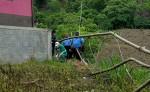 Agentes de la Policía Nacional en el sitio donde encontraron los cuerpos de dos campesinos en San Ramón, Matagalpa. LA PRENSA/Cortesía Notimatv