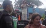 Francisca Ramírez fue custodiada por decenas de antimotines. LA PRENSA/Cortesía
