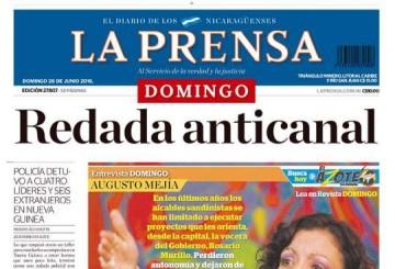 Portada LA PRENSA – 26.06.2016