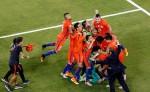 Chile celebra el campeonato. LAPRENSA/EFE