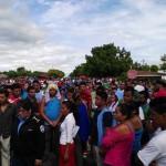Fuerte tensión en las afueras de empresa textilera en Managua