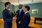 Incómodo momento de Peña Nieto con Obama y Trudeau