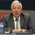 El ministro español de Exteriores, José Manuel García-Margallo, durante una rueda de prensa que ofreció junto a su homóloga argentina, Susana Malcorra, tras la reunión que ambos mantuvieron este viernes en Madrid. LA PRENSA/EFE