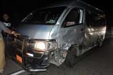 Interlocal de Jinotepe se lleva susto al impactar con camioneta