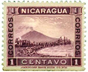 Estampilla nicaragüense de 1900.