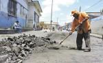 Las calles donde  funcionó  el mercado  en Jinotepe, están siendo reparadas. LA PREMSA/M.GARCÍA