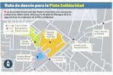 Cerrado tramo de Pista Solidaridad por ampliación