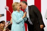 Kaine y Clinton con mensaje de optimismo y diversidad
