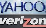 Logotipos de la firma Yahoo (arriba) en el Campus Sunnyvale y del grupo de telecomunicaciones estadounidense Verizon, en una tienda de Nueva York. LA PRENSA/EFE/JOHN G. MABANGLO/JUSTIN LANE