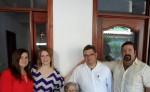 El sepelio de Reina Gasteazoro Rivas de Aguilar será esta mañana de miércoles. En la foto con la familia. CORTESÍA