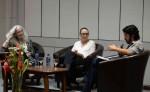 Daisy Zamora,  Rosario Aguilar y José Adiak Montoya durante el libro-foro La niña blanca y los pájaros sin pies. LA PRENSA/Carlos Valle