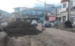 Los trabajos  habían avanzado en aproximadamente 600 metros, pero por las constantes lluvias fueron suspendidos. LA PRENSA/CORTESÍA