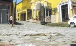La mayoría de las calles adoquinadas se encuentran en mal estado y para repararlas la municipalidad de Boaco  ha dispuesto presupuesto este año. LA PRENSA/M.RODRÍGUEZ