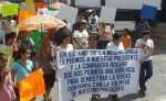 Recorriendo las calles de Ocotal la marcha salió desde una de las viviendas ocupadas hasta el edificio donde funcionó la distribuidora La Amistad. LA PRENSA/A.LORÍO