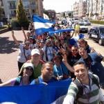 Jóvenes nicas en Cracovia en JMJ
