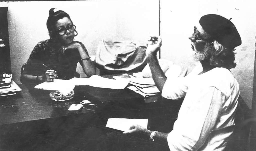 Rosario Murillo junto a Ernesto Cardenal cuando ella trabajó en el diario LAPRENSA. LAPRENSA/Archivo
