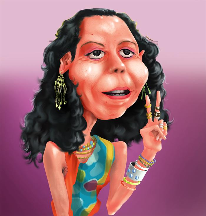 Caricatura de Rosario Murillo. LA PRENSA/Jorge Moreno Luna.