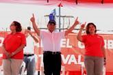 Arnoldo Alemán en campaña con Maximino Rodríguez