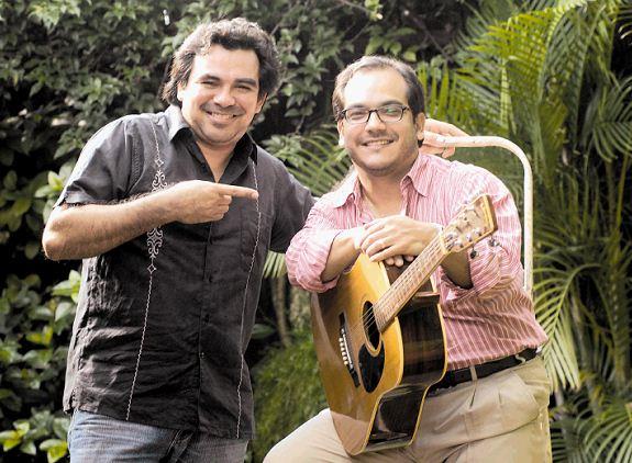 Juan Solórzano ha formado dúo junto a Luis Pastor y Otto de la Rocha, dos destacadas figuras de la canción nicaragüense. LAPRENSA/ARCHIVO