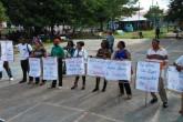 Afrodescendientes protestan durante acto de conmemoración en Bluefields
