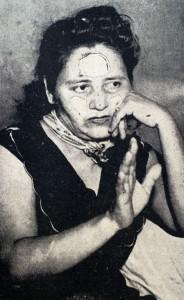 "Gertrudis Sequeira, apodada ""Tulita"", declarando con lujo de detalle cómo mató a su esposo ebanista. LA PRENSA/Archivo."