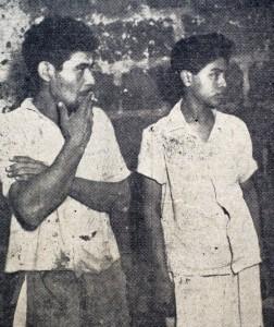 Los asesinos a sueldo de Santiago Campuzano. Francisco Solís González (izquierda) y Francisco Morales pagaron el acto con 20 años de cárcel cada uno. LA PRENSA/Archivo.