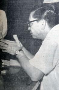 El doctor Paco León ante el juez, explicando la muerte de Isolina Leiva. LA PRENSA/Archivo.