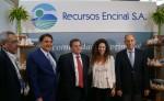 Directivos de Recursos Encinal  durante el Congreso Minero.LA PRENSA/CORTESÍA