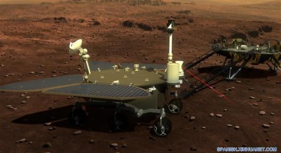 China muestra la sonda que enviará a Marte