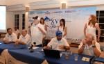 La reunión de los capitanes, presidida por el anfitrión Carlos Pellas,  fue el preámbulo del XV Torneo Internacional de Pesca Flor de Caña. LA PRENSA/MAYNOR VALENZUELA