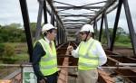 El Gobierno de Japón donó la construcción de los puentes Santa Fe y Paso Real, ubicados en San Carlos y Matagalpa, respectivamente. LA PRENSA/ ARCHIVO