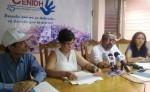 Martina Porta y Benjamín Lugo denuncian en el Cenidh el supuesto fraude electoral que se prepara en el país LA PRENSA/ E. ROMERO