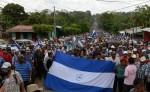 Una de las marchas en contra del Canal Interoceánico donde los protagonistas son los campesinos. LA PRENSA/ ARCHIVO