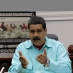 El presidente de Venezuela  Nicolás Maduro, durante un consejo de Ministros en el Palacio de Miraflores,. LA PRENSA/EFE