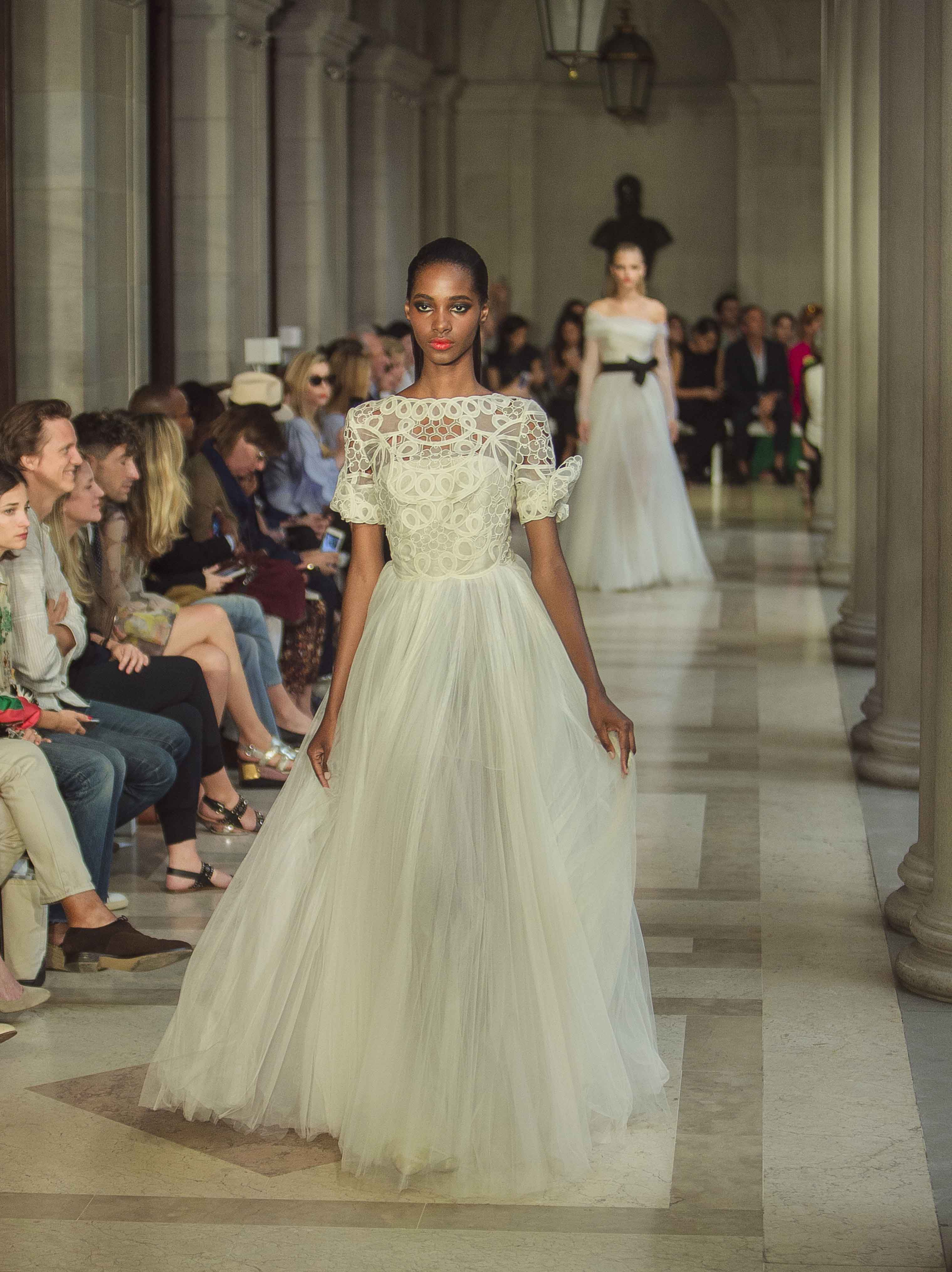 f1481ca161 CORRECTS VENUE NAME TO THE FRICK COLLECTION - The Carolina Herrera Spring  2017 collection is modeled