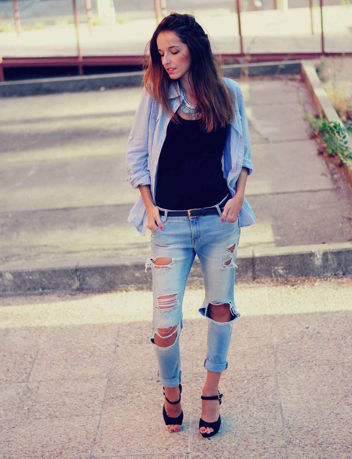 Jeans rotos... ¡El boom de la moda!