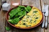 Prepare omelette, pancakes, crema y frittata con espinaca