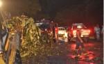La lluvia del viernes provocó  la interrupción  del transporte  en la carretera Boaco-Managua, a causa de un árbol que cayó  y bloqueó el paso. La circulación fue restablecida ese mismo día. LA PRENSA/M.RODRÍGUEZ