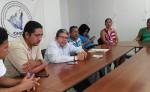 Andés Tercero y José Andrés Tercero, junto a familiares denunciaron ante el asesor legal de la CPDH, Pablo Cuevas el abuso del cual fueron víctimas.  LA PRENSA/E. ROMERO
