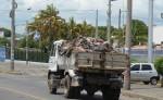 Los camiones de basura llevan los desechos al relleno sanitario La Chureca. LAPRENSA/M.ESQUIVEL