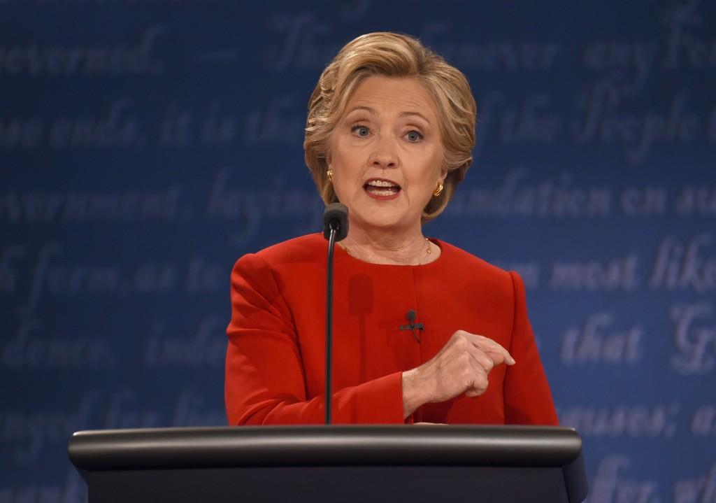 Hillary Clinton durante el debate de este lunes. LAPRENSA/AFP
