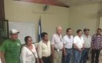 Nuevos directivos de la Asociación de Cafetaleros de Matagalpa  al momento de ser juramentados.  LA PRENSA/L.E. MART͍NEZ M.