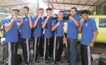 El equipo de boxeo juvenil de Nicaragua que compite en Costa Rica.  LA PRENSA/ROSA MEMBREÑO