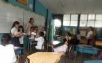 Estudiantes de la escuela en la finca  San Juan de Pavas en Costa Rica, durante una actividad sobre cultura miskita. LA PRENSA/CORTESÍA
