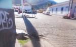 Tres drenajes están abiertos en esquinas céntricas de la ciudad, por lo que personas vecinas  pidieron que sean sellados para mayor seguridad.  LA PRENSA/S. RUIZ