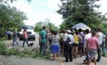 Pobladores de la comunidad La Trinidad protestaron por no tener agua potable. LA PRENSA/MYNOR GARCÍA