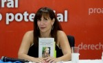 María Augusta Montealegre presentó el tomo I de su libro Ideas estéticas y políticas de las vanguardias en Nicaragua (1918-1933). LA PRENSA/ROBERTO FONSECA. LA PRENSA/ROBERTO FONSECA.