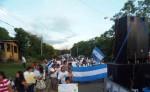 Ayer se realizó la tercera marcha  para pedir la libertad de la profesora Nila Mar Alemán. LA PRENSA/R.VILLARREAL